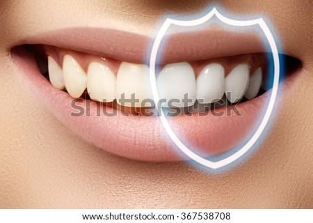 Perfekt Lächeln Zahnpflege Zähne Gesicht Stock foto © serdechny