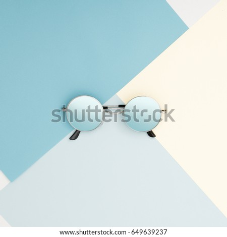 Flat lay. Top view. Minimal fashion photography. Beautiful romantic composition with flowers. St. Va stock photo © serdechny
