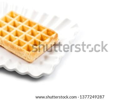 Belgium fehér kerámia tányér izolált friss Stock fotó © marylooo