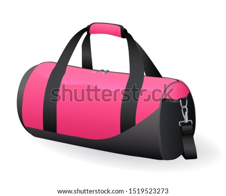 Pink black sport bag for sportswear and equipment icon isolated Stock photo © MarySan