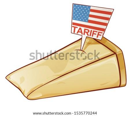 пармезан Соединенные Штаты Европа торговли бизнеса продовольствие Сток-фото © doomko