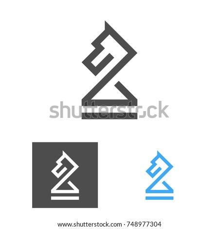 set of chess club emblems design element for poster logo label sign stock photo © masay256