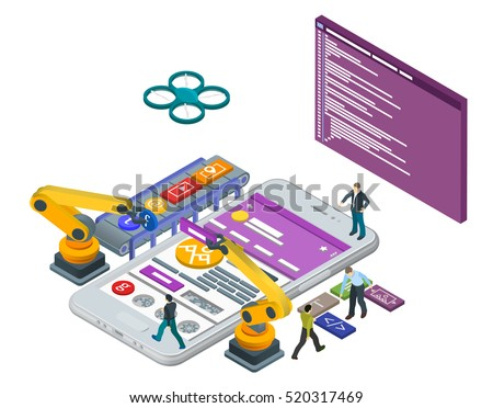 Start up business concept for mobile app development or other disruptive digital business ideas. Car Stock photo © benzoix