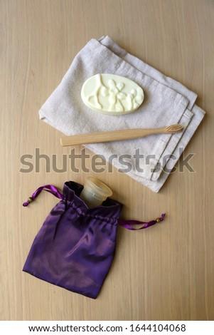 Feminine hygiene product - Menstrual cup On a wooden background Stock photo © galitskaya