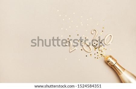 Gyönyörű új év arany csillámlás csillog stílus Stock fotó © SArts