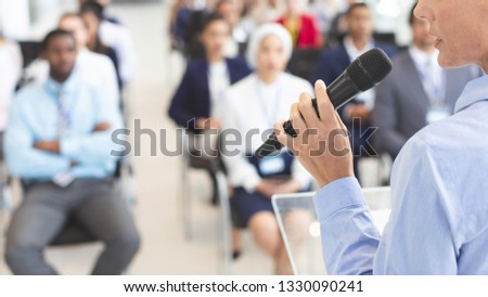 Mężczyzna Język działalności seminarium Zdjęcia stock © wavebreak_media