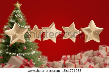 Csillag nulla felfelé öt köteg karácsony Stock fotó © Wetzkaz