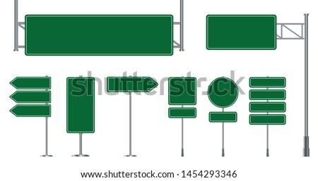 Verkeersborden geïsoleerd witte richting borden niveau Stockfoto © ukasz_hampel