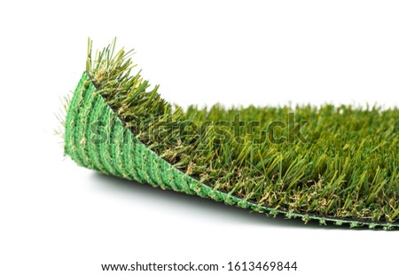 Flipped Up Section of Artificial Turf Grass On White Background Stock photo © feverpitch