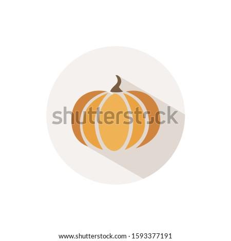 Dynia ikona cień beżowy kółko halloween Zdjęcia stock © Imaagio