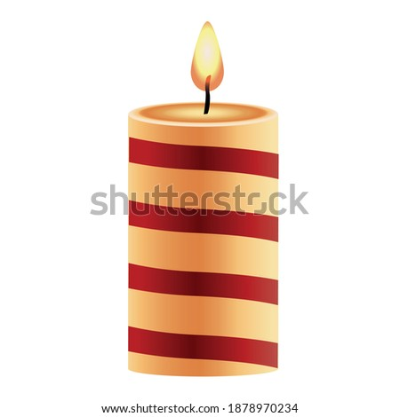 Red aromatic candle on Christmas and New Years glitter backgroun Stock photo © Anneleven