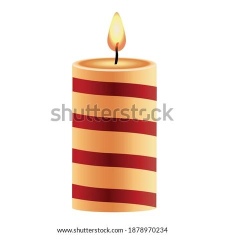 Rot aromatischen Kerze Weihnachten neue Jahre Stock foto © Anneleven