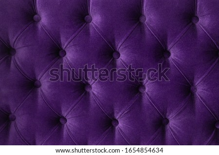 Purple luxury velour quilted sofa upholstery with buttons, elega Stock photo © Anneleven