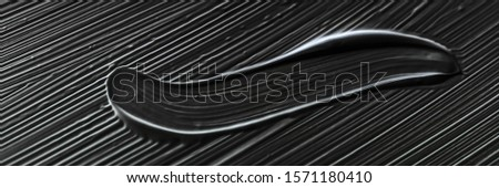 Cosmetica abstract textuur zwarte acryl penseel Stockfoto © Anneleven