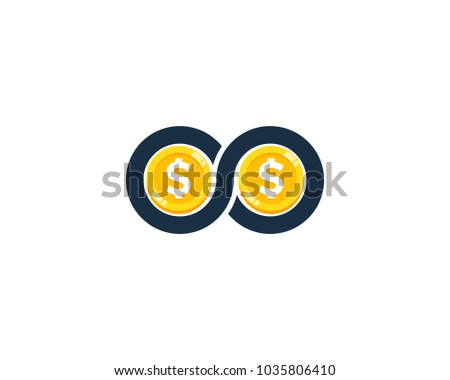Infinito moeda cifrão ícone design de logotipo elemento Foto stock © kyryloff