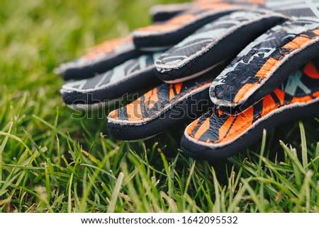 вратарь Футбол футбола перчатки природного Сток-фото © matimix