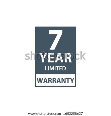 Anos garantia ícone etiqueta certidão clientes Foto stock © kyryloff
