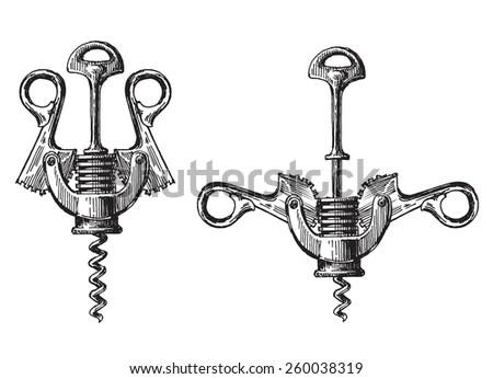 Corkscrew vector logo design template. winemaking or wine icon. Stock photo © Zhukow