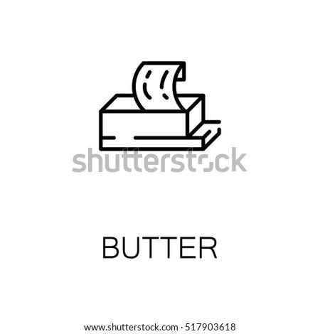 Geheel stuk boter mes icon vector Stockfoto © pikepicture