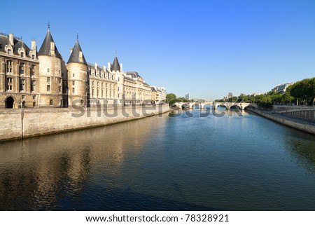 Banks of River Seine, historical buildings and classic architecture in Paris, France Stock photo © Anneleven