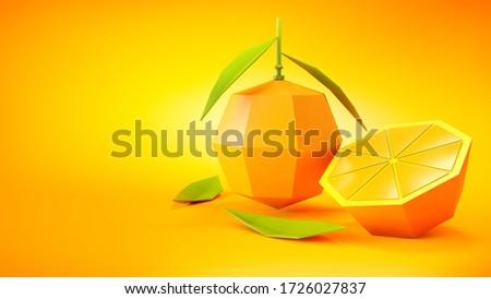 Sulu turuncu düşük meyve bölüm kâğıt Stok fotoğraf © LoopAll