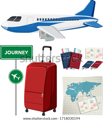 Travel set with transportations and other items Stock photo © bluering