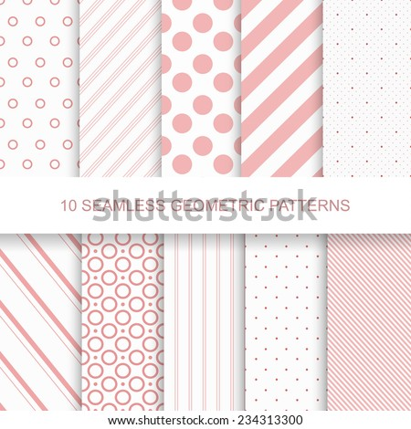 Collection of vector simple seamless celebration patterns. Modern stylish textures with colorful geo Stock photo © ExpressVectors