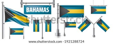 вектора набор флаг Багамские острова различный Creative Сток-фото © butenkow