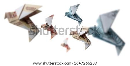 Russisch vorm vogels vliegen witte papier Stockfoto © butenkow