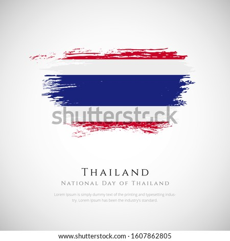Tailandia bandera blanco ola color cinta Foto stock © butenkow