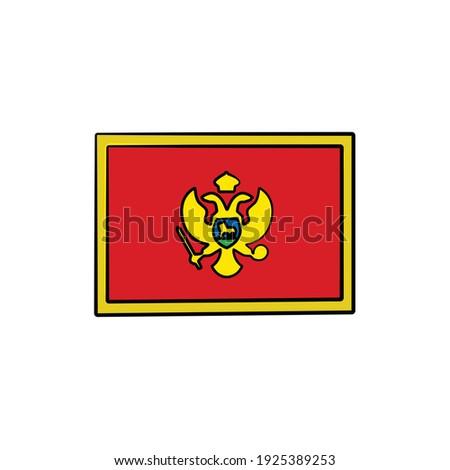 Черногория флаг стороны белый Мир знак Сток-фото © butenkow