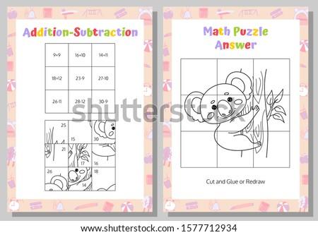 Matemáticas ninos color educativo ninos actividad Foto stock © natali_brill