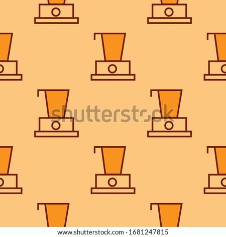 Robotgép minta ismétlés végtelenített narancs szín Stock fotó © natali_brill
