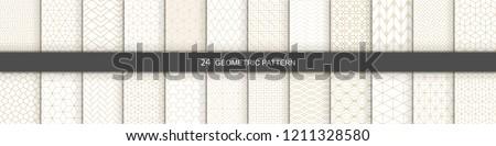 Repeating Geometric Stripes Tiling. Vector Seamless Monochrome Subtle Pattern Stock photo © samolevsky
