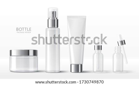 Etiqueta cosmético recipiente garrafa produto Foto stock © Anneleven