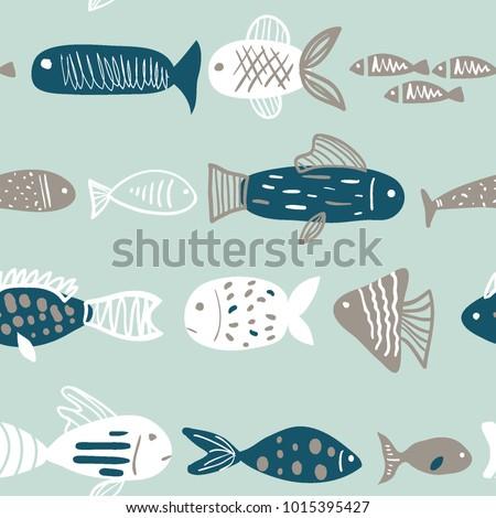 морской рисованной вектора иллюстрация цвета Сток-фото © balabolka