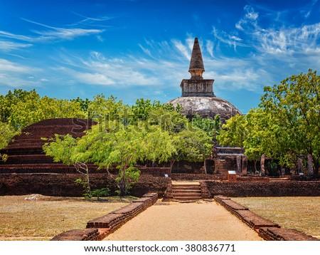 Sri Lankan tourist landmark Kiri Vihara dagoba Stock photo © dmitry_rukhlenko