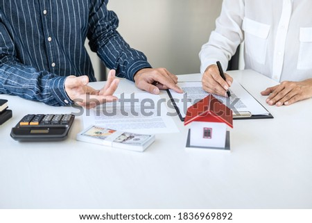 Real estate broker residential agent being analysis and making t Stock photo © Freedomz