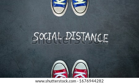 Social distancing concept. Physical contamination, infected peop Stock photo © olivier_le_moal