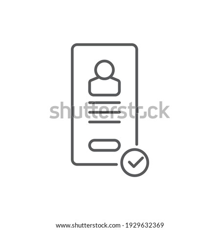 visa document confirmation icon vector outline illustration Stock photo © pikepicture