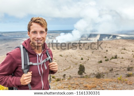 Hawai volcán turísticos hombre cráter parque Foto stock © Maridav