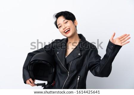 кожа Мото куртка азиатских изолированный Сток-фото © Maridav