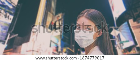 Wirusa podróży zakazu Chiny kobieta turystycznych Zdjęcia stock © Maridav