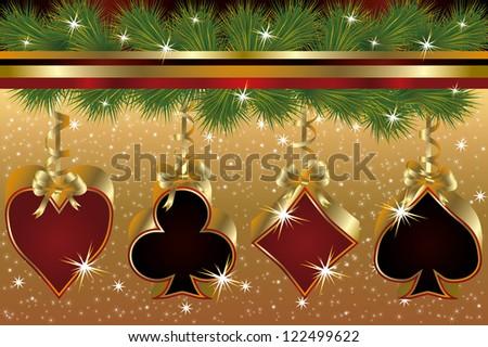 Casino poker Natale albero cuore Foto d'archivio © carodi