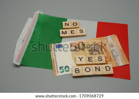 yes - no - written with banknotes on white background Stock photo © pterwort