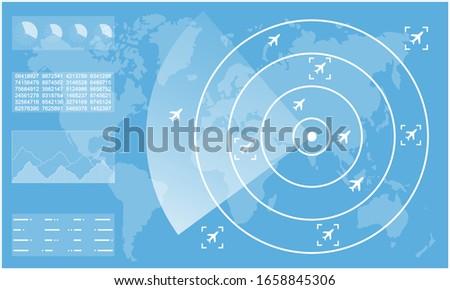 Kék radar repülőgép repülőgép vektor poszter Stock fotó © krabata