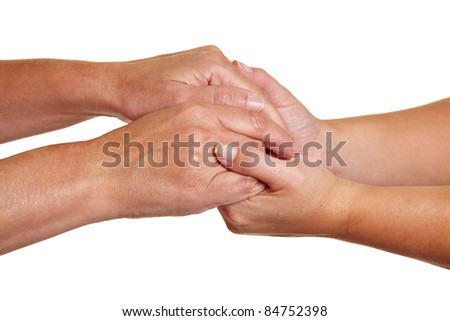 Hands expressing symbolic sympathies while holding each other  Stock photo © dacasdo