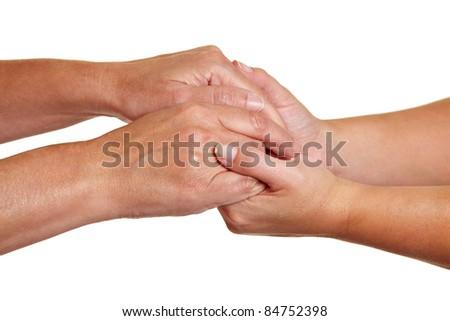 Mãos simbólico outro mão Foto stock © dacasdo