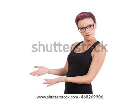 小さな · 女性実業家 · 見える · 手のひら · 向い · アップ - ストックフォト © wavebreak_media
