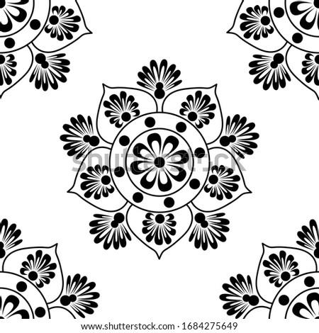 Beautiful Rangoli ornament Pattern collection art colorful diwal Stock photo © bharat